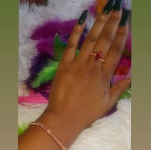 Copper ring and bracelet set